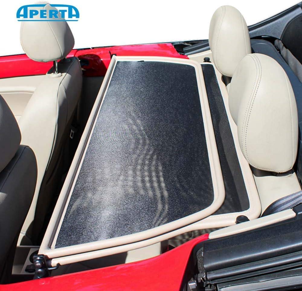 Black Tailor Made Windblocker Draft-Stop Wind Stop Volkswagen Convertible Aperta Wind Deflector fits Volkswagen Beetle,K/äfer 15