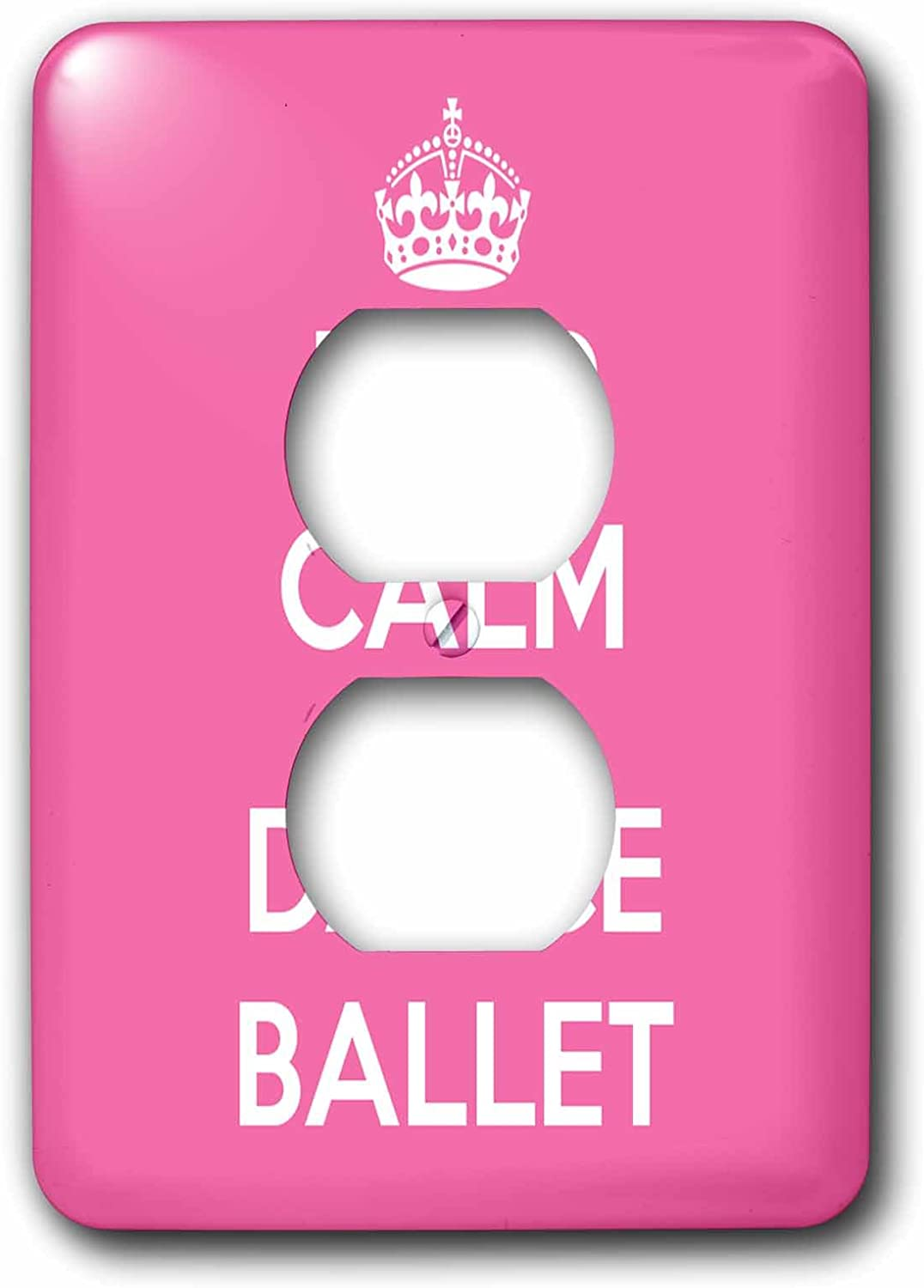 3drose Lsp 163927 6 Keep Calm And Dance Ballet Pink And White Light Switch Cover Amazon Com