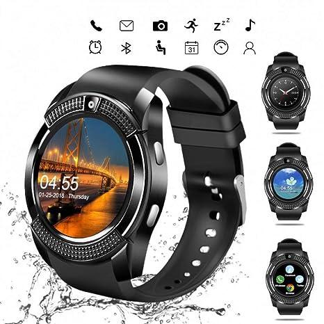 FRWPE SmartWatch Bluetooth Pantalla táctil Reloj de Pulsera con ...