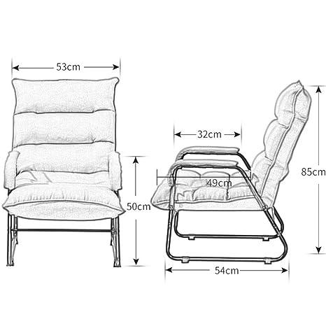 Amazon.com: Home Grey Lazy Couch Silla de salón/balcón para ...