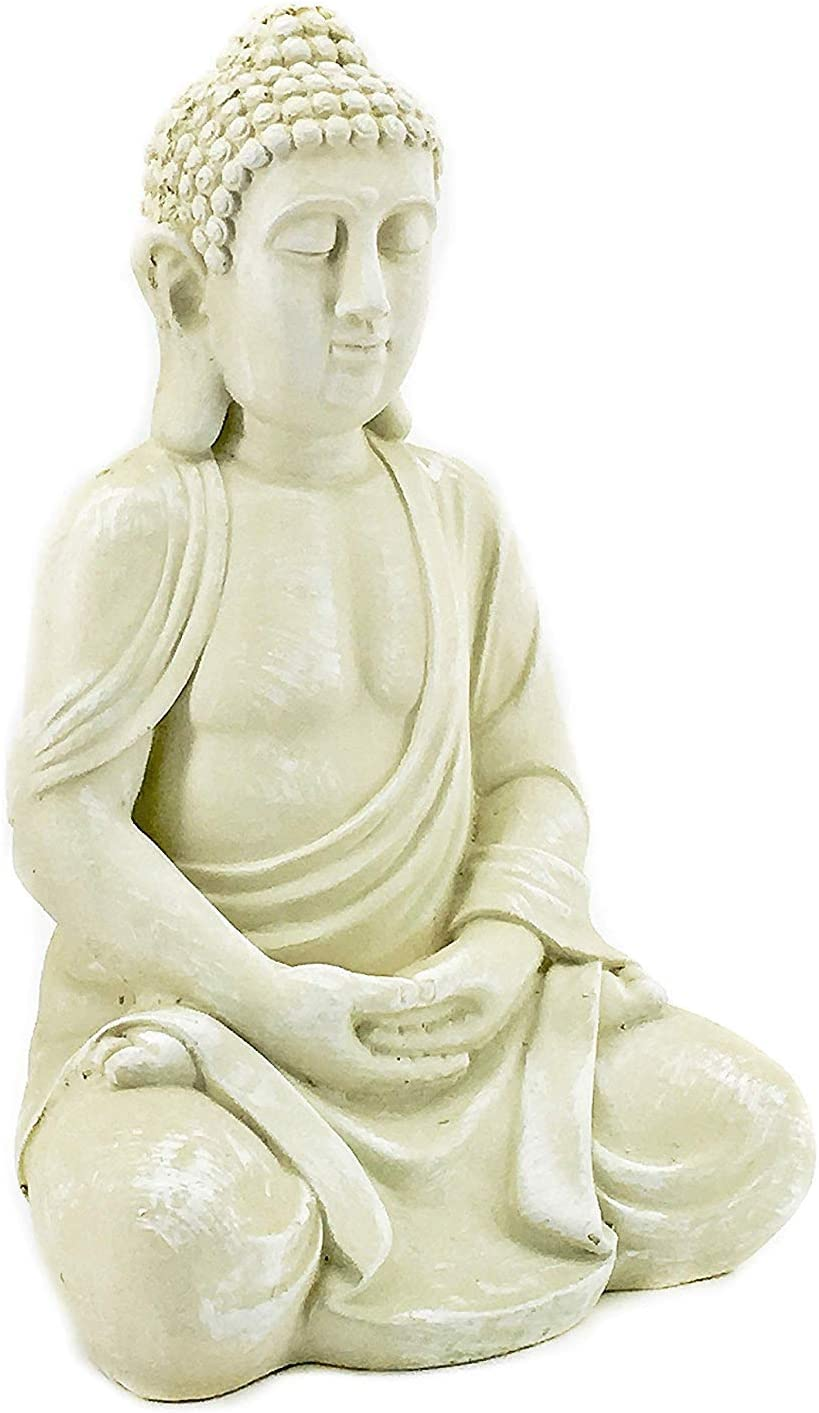Bellaa 23615 Meditating Buddha Statue Outdoor Decor 20 inch
