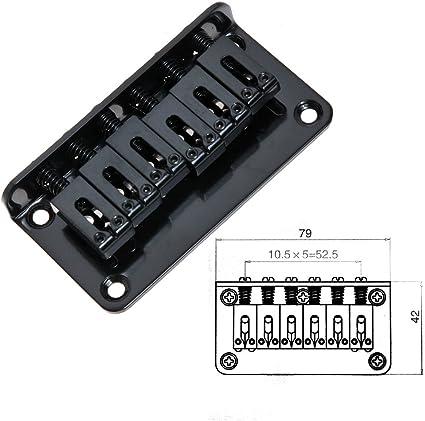 Metal Hardtail Bridge for Electric Guitar Parts Replacement Spacing 10.5mm Black