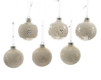 Christbaumkugeln Antik.Amazon De Kugeln Glas Weiß Silber Antik Glaskugeln Weihnachtskugeln