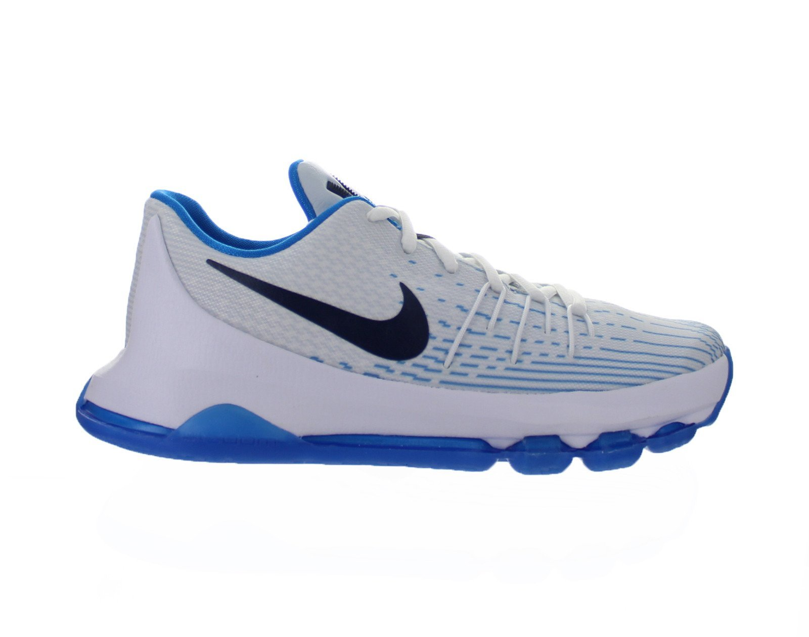 watch 114e1 68235 Nike KD 8 VIII GS White Midnight Navy Photo Blue 768867-144 US 7y