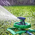 LONG RANGE IMPULSE SPRINKLER SYSTEM - Sturdy Sprinklers Water Entire Lawn And Garden Without Oscillating Systems Waste - A Sprayer For FAST, EASY Watering From Any Hose - BONUS GARDENER EBOOK BUNDLE