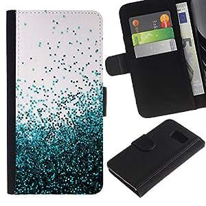 Planetar® Modelo colorido cuero carpeta tirón caso cubierta piel Holster Funda protección Para Samsung Galaxy S6 / SM-G920 ( Flying Spring Blue Entropy Mess )