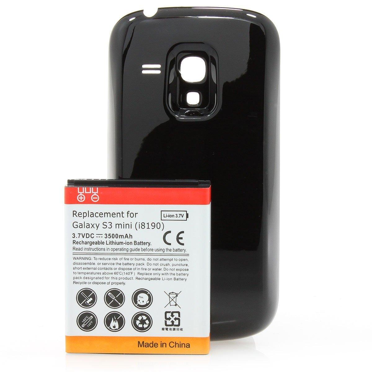 XAiOX POWER Ersatz Akku für Samsung Galaxy S3 Mini i8190 mit 3500 mAh  Li-Ion inkl. Akkufach Akkudeckel in schwarz - ersetzt EB425161LU:  Amazon.de: ...