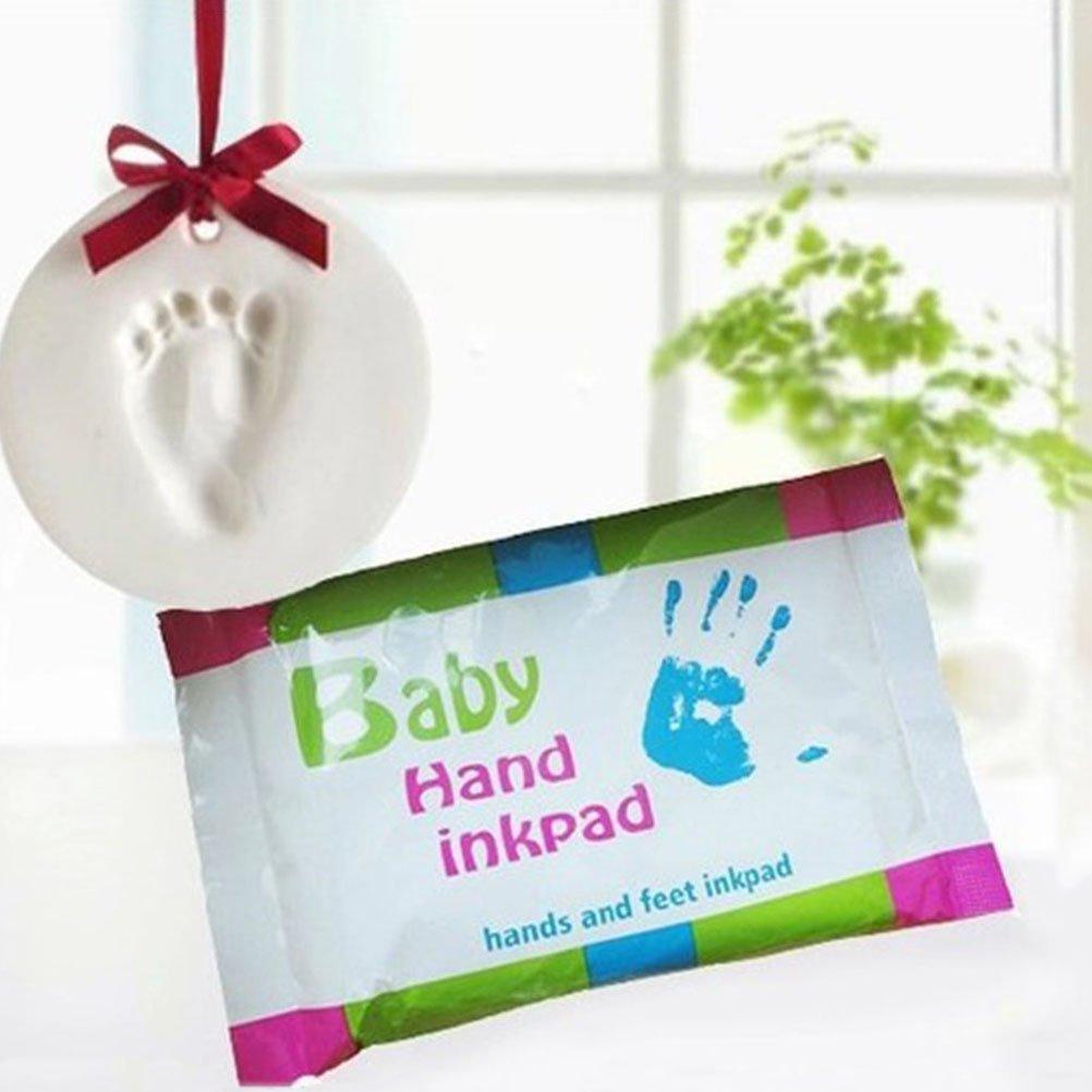 YeahiBaby Kit de huella reci/én nacido beb/é Handprint y huella Kit de recuerdos para los ni/ños ni/ñas beb/és