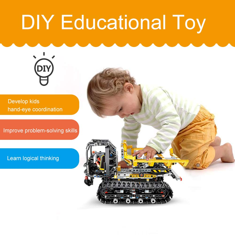 Cigooxm 774PCS Remote Control Building Blocks Car RC Track Building Blocks Educational Toys for Kids by Cigooxm (Image #6)