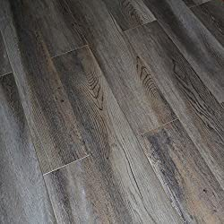 Dekorman 9403C 12mm AC4 CARB2 Premium Collection Laminate Flooring-Wood Ash Oak, Multi Gray and Tan