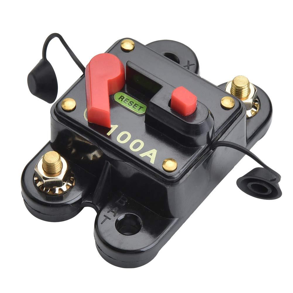 Type A 60A Inline Fuse Block For Car Audio Solar Inverter System Protection Qiorange DC 12V-24V 60 Amp Circuit Breaker Fuse Holder
