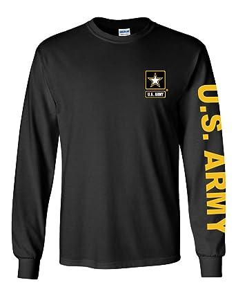 Amazon.com  U.S. Army long sleeve T-shirt. Black  Clothing 80bc2d22e33