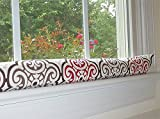 Red & Brown Draft Stopper - Unfilled Draft Stopper for Window or Door Draft Stopper