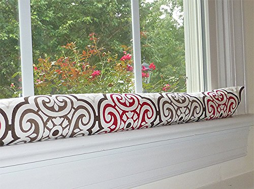 Red & Brown Draft Stopper - Unfilled Draft Stopper for Window or Door Draft Stopper by Appleberry Attic