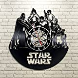 Star Wars Death Star Darth Vader Luke Skywalker Movie Characters Vinyl Record Design Wall Clock – Decorate your home with Modern Famous Star Wars Art Review