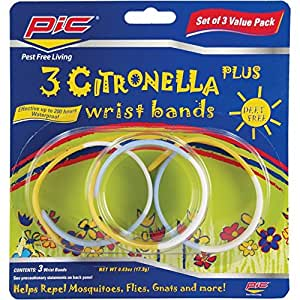 Pic Citronella Plus Wristband (3 Count)