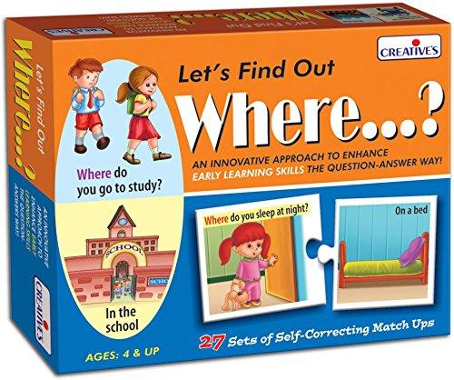 Gioco creativo pedagogico educativo pre-scolare Let's Find Out Where Creative Educational CRE0996