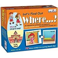 Creative Educational Aids P. Ltd. Let's Find Out Where Puzzle (Multi-Color, 54 Pieces)