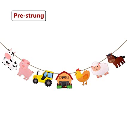 Amazon Com Faisichocalato Farm Animal Party Supplies Banner
