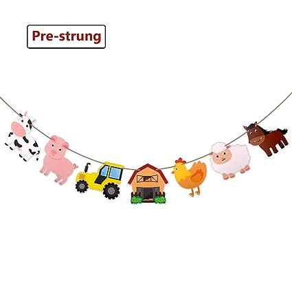 Amazon Com Faisichocalato Farm Animal Party Supplies Banner