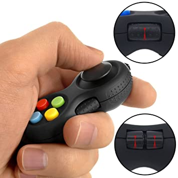 Fidget Pad with 8-Fidget Functions 2nd Generation Fidget Toy Controller  Stress Reducer Hand Shank Fidget Cube, Perfect for Release Stress and  Anxiety,