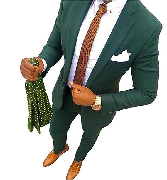 TOPG Green Men Suits Wedding Groom Suit Formal Business Suit ...