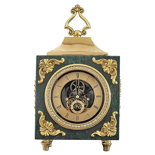 KJH Reloj de Mesa, Manto/Reloj de Mesa, Mármol de Cobre Puro ...