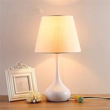MKKM Lámpara de Mesa-Moderno Minimalista Dormitorio ...