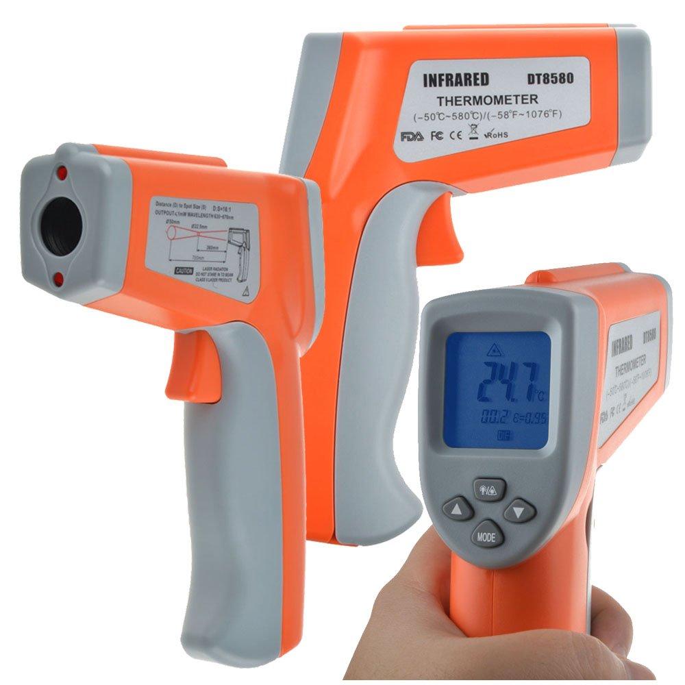 Tccmebius TCC-8580 Non-contact Digital Dual Laser Ir Infrared Thermometer Temperature Gun