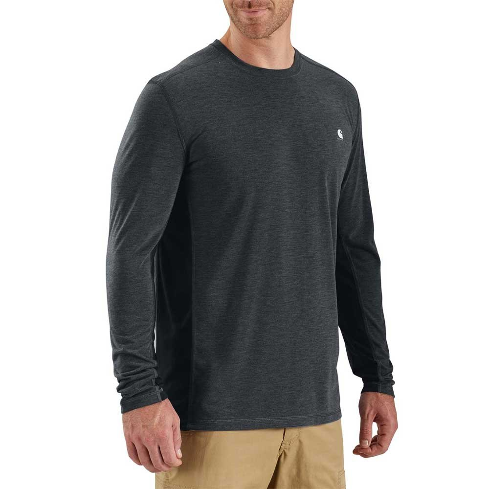 Carhartt Men's 102998 Force Extremes Long Sleeve T-Shirt - 3X-Large Regular - Black/Black Heather