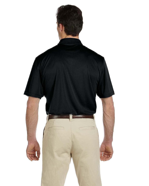 BLACK 2XL Harriton Mens Double Mesh Sport Shirt