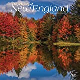 The Majesty of New England 2019 12 x 12 Inch Monthly Square Wall Calendar, USA United States of America East Coast Scenic Nature (Multilingual Edition)
