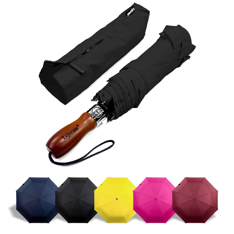 Amazon.com: Paraguas grande plegable Lejorain Auto con tela ...