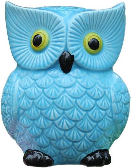 Amazon.com: ZCHING - Hucha de cerámica con forma de búho ...