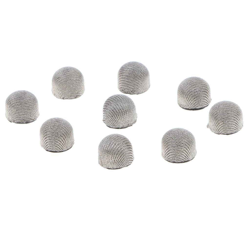 MagiDeal 10Pack Replaceable Mesh Fiber Replacement Tips for Touchscreen Stylus Pen Dia 6mm//7mm//8mm Silver Dia 8mm