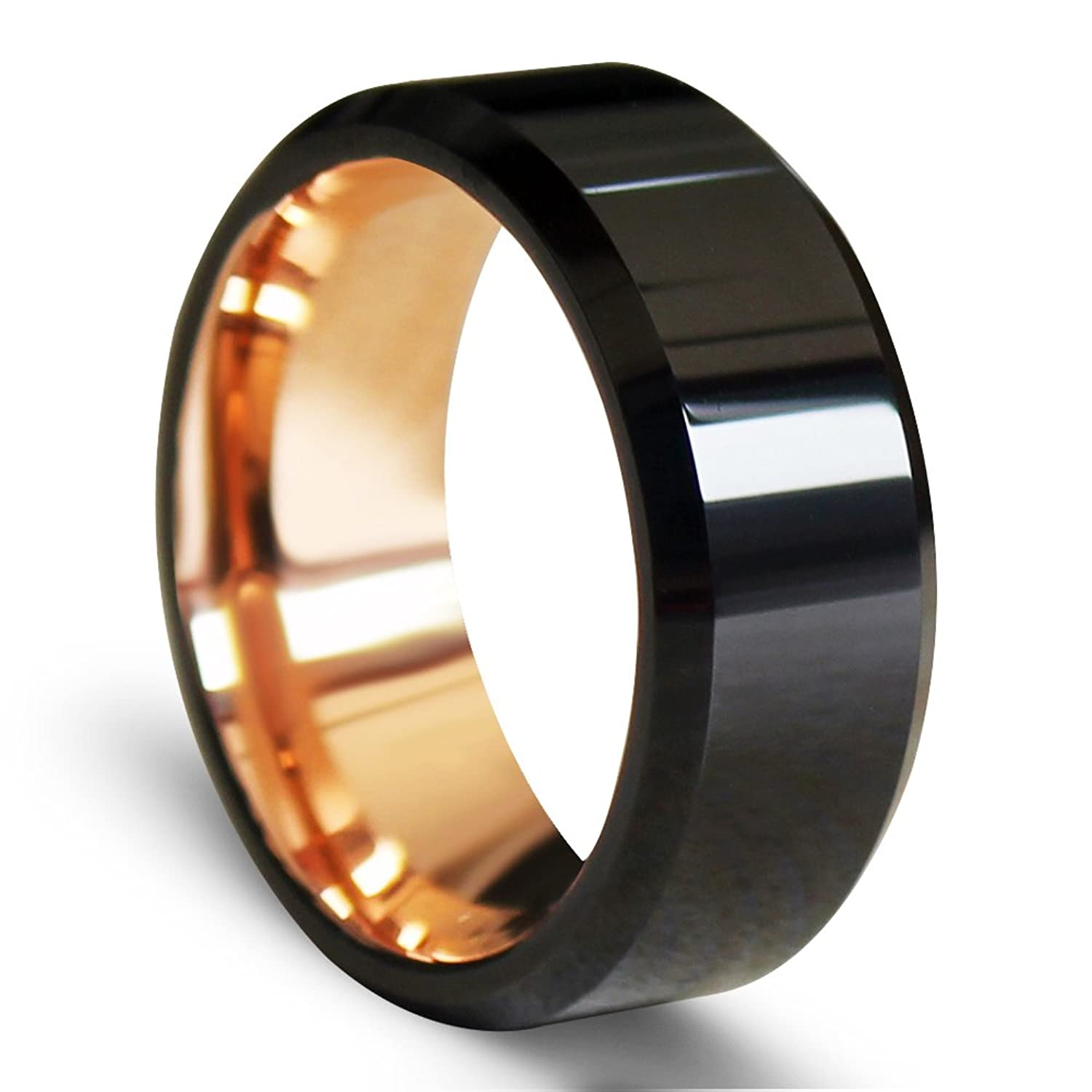 band wedding unique rose and gold mens black extraordinary bands
