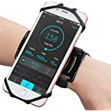 "Matone iPhone X/8/8 Plus/7/7 Plus/6/6S Plus Wristband, 180° Rotatable Phone Holder Forearm Armband Ideal for Jogging Running Compatible with Samsung Galaxy S8/S7 & 4.0""-5.5"" Smartphone (Black)"
