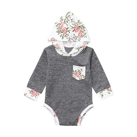 Amazon.com: Traje de neonato para bebé, diseño floral, ideal ...