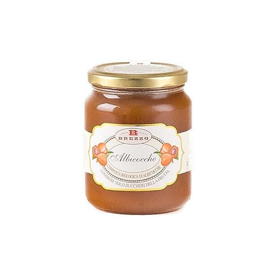Brezzo - Compota bio de albaricoques sin azúcar añadida 390gr.