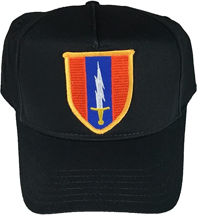 a15647a26f7f 1ST SIGNAL BRIGADE HAT - BLACK - Veteran Owned Business at Amazon Men s  Clothing store