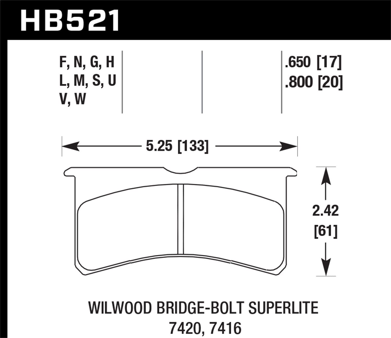 Hawk Performance HB530N.570 HP Plus Brake Pad