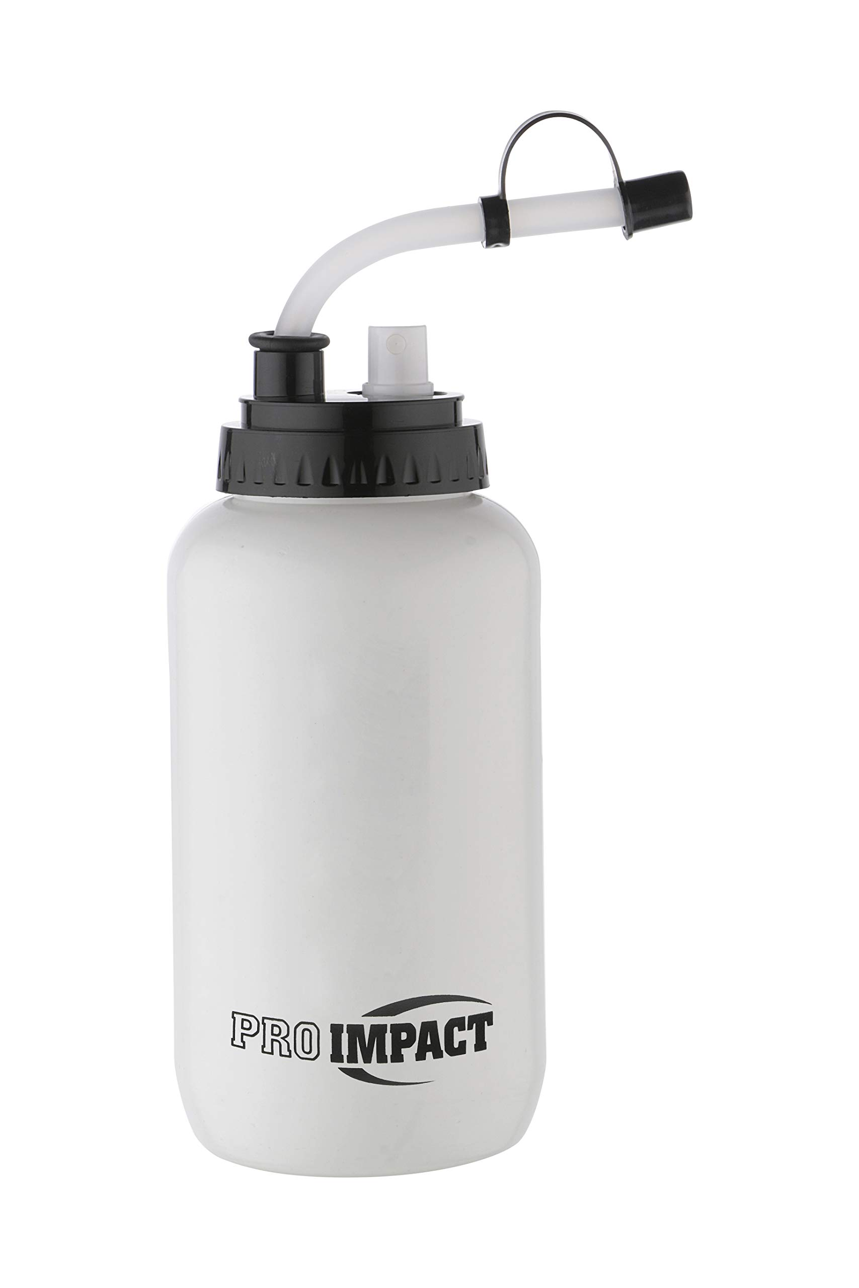 Pro Impact Fatboy Boxing Water bottle WHITE with SPRAY Hockey Lacrosse Water Bottle White hydrate refresh boxing mma fitness bottle