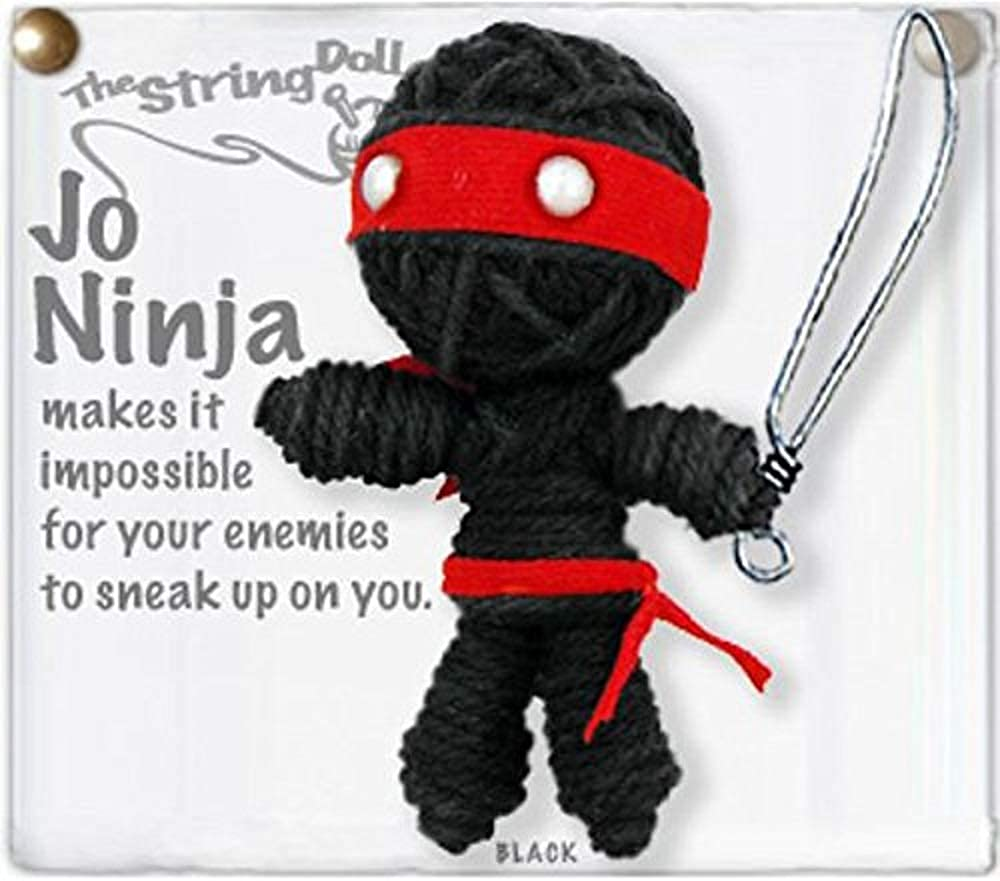 Kamibashi Jo Ninja The Original String Doll Gang Handmade Keychain Toy & Clip
