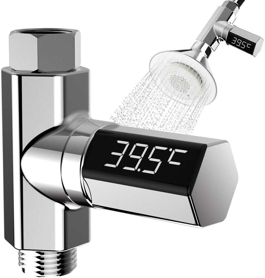 termometro Girevole a 360 Gradi Celsius//Fahrenheitanzeige 0~100/°C Galapara Termometro Digitale per Doccia con Display a LED