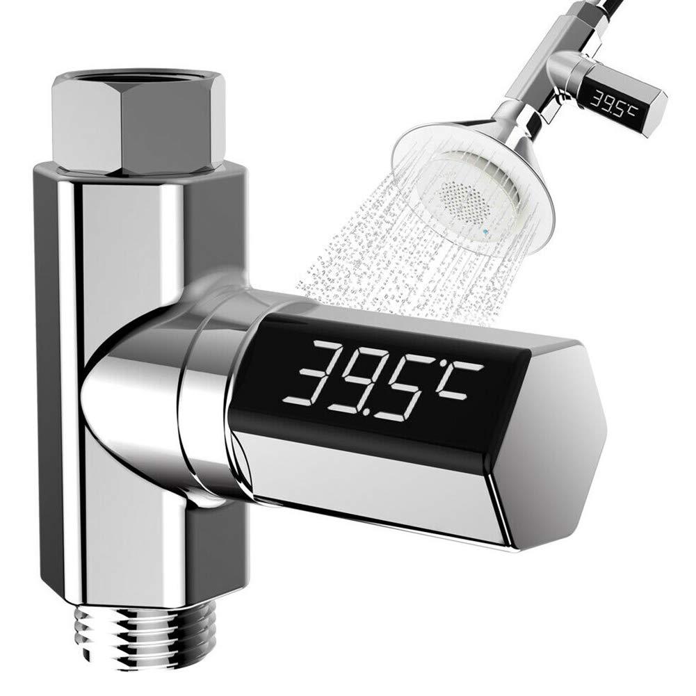 81.0 30.0mm Ganquer Digitale Monitor Acqua Termometro Self-Generating Doccia Temperatura Display LED Come da Foto 80.6