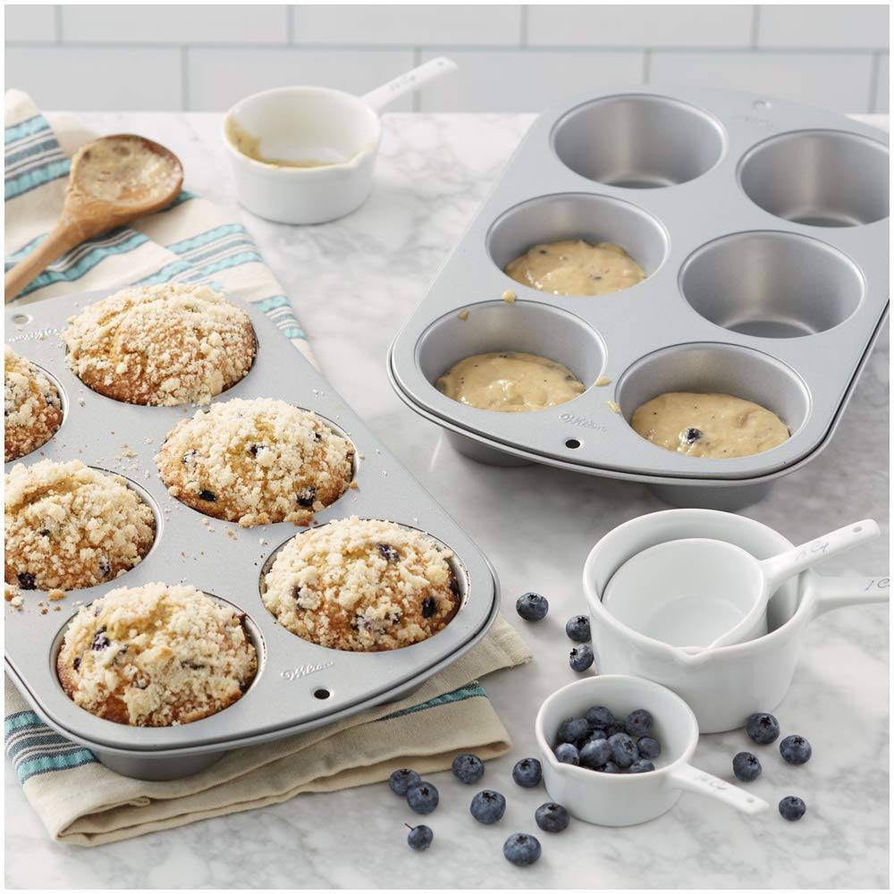 Wilton Recipe Right Non-Stick 6 Cup Jumbo Muffin Pan, Multipack of 2 by Wilton (Image #3)
