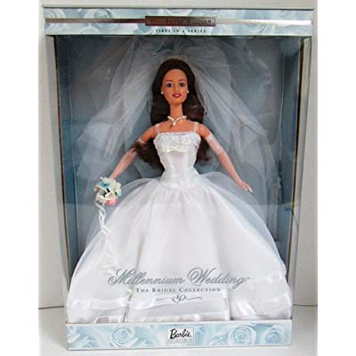 1999 Millennium Wedding Barbie (Brunette): Toys & Games
