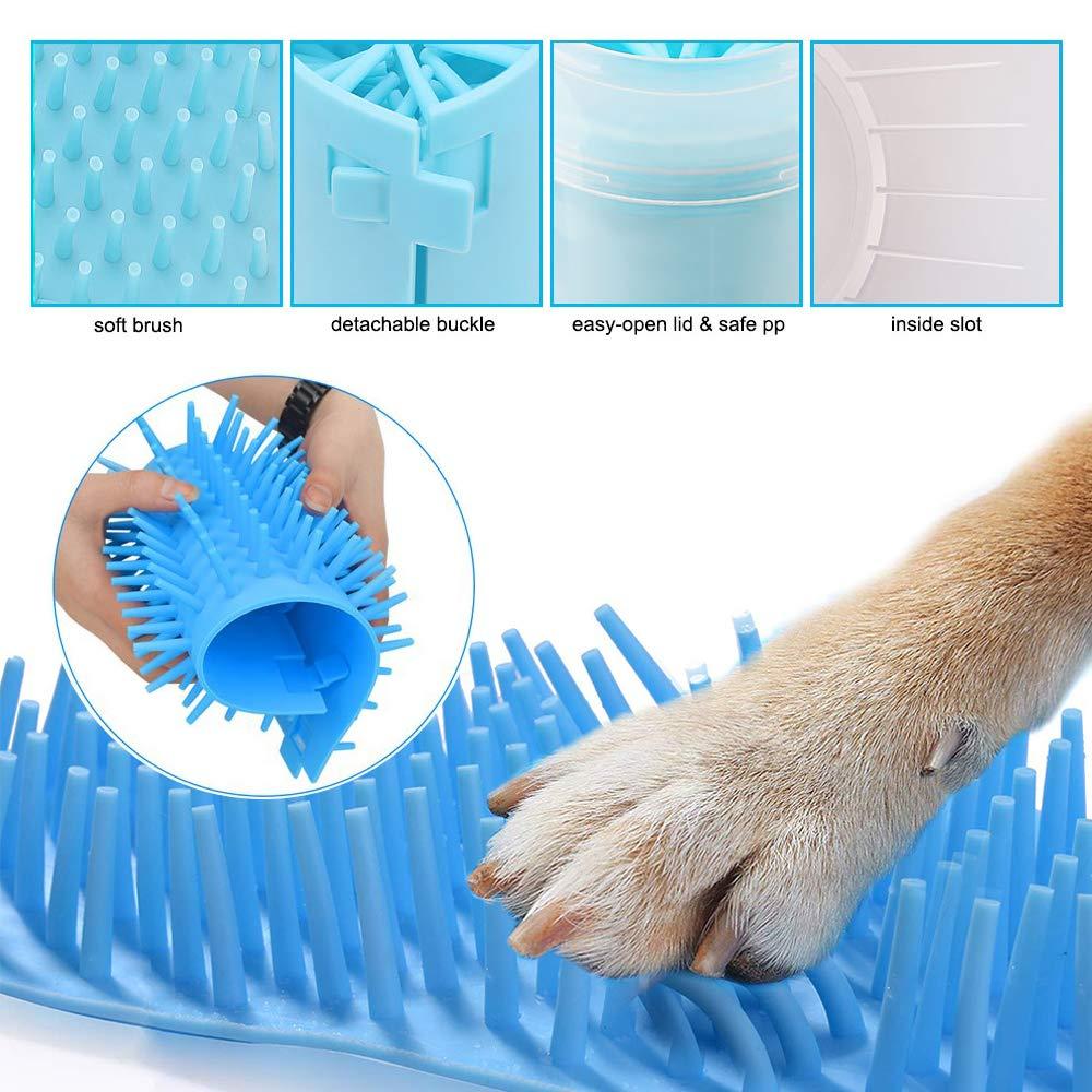 Dog Paw Cleaner con setole in Morbido Silicone per Un Lavaggio rapido Hcpet Pulitore della Zampa del Cane tra Cui Pennello per Guanti per Animali Domestici Asciugamani e spazzolini per Cani