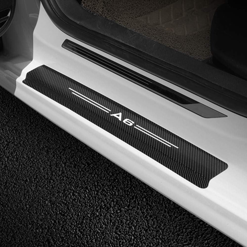 4PCS Auto Pedale Soglia Pedale Modello in Fibra di Carbonio Adesivo Soglia Porta Targhetta Adesivi///Accessori TAYDMEO Adesivo soglia Auto,per Audi A6 C6 C5 C7 4F