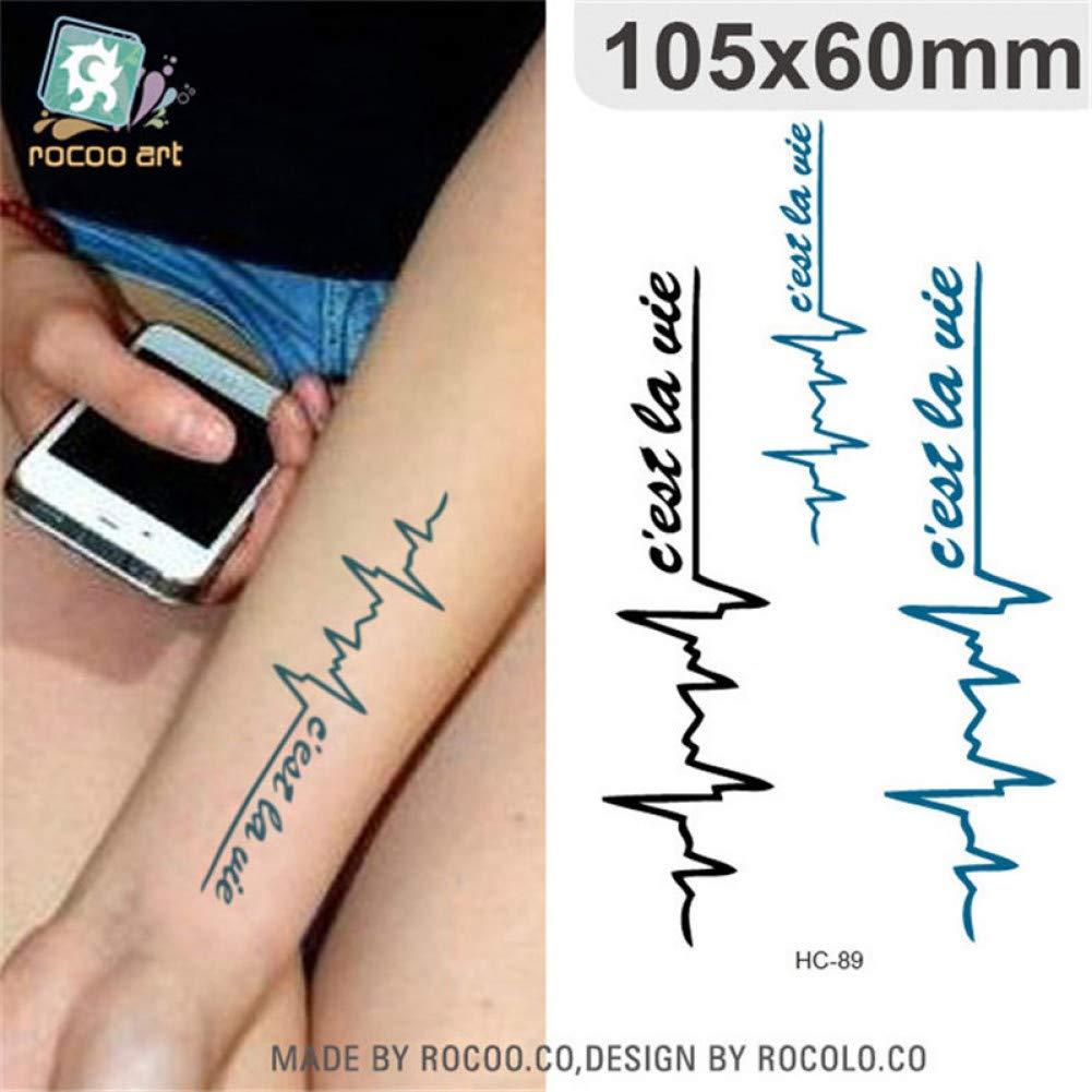 SDEFGH Etiqueta engomada del tatuaje 3 Piezas Impermeables ...